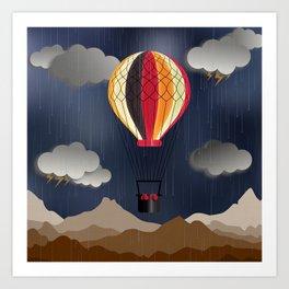 Balloon Aeronautics Rain Art Print