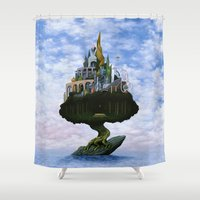 magritte Shower Curtains featuring Emissary by Nathan Spoor