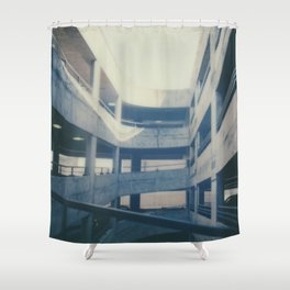 Polaroid lovers ~architecture Dundee Shower Curtain