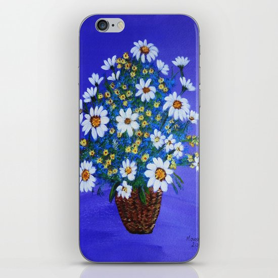 Flowers in the basket iPhone & iPod Skin