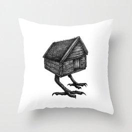 Baba Yaga's Hut Throw Pillow