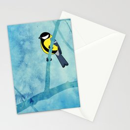 Great tit (Parus major) Stationery Cards