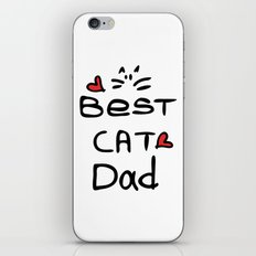 Best cat dad iPhone & iPod Skin