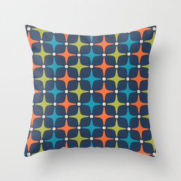 Mid Century Modern Star Pattern 933 Throw Pillow