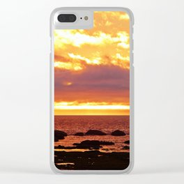 Sunset Extravaganza Clear iPhone Case