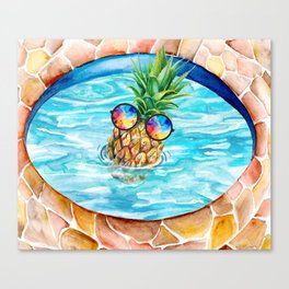 Chilling Pineapple Canvas Print
