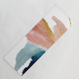 Exhale: a pretty, minimal, acrylic piece in pinks, blues, and gold Yoga Mat
