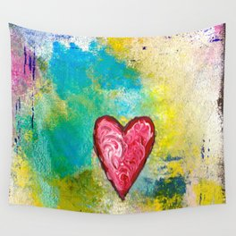 A Simple Heart Wall Tapestry