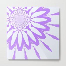 The Modern flower Lavender Metal Print