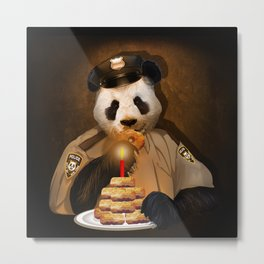 PANDA POLICE iPhone 4 4s 5 5c 6 7, pillow case, mugs and tshirt Metal Print