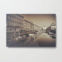 Tha Canal in Trieste Metal Print