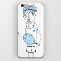 tennis iPhone & iPod Skins featuring Tennis by Andrea Forgacs