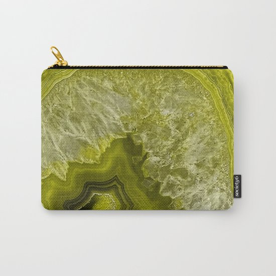 Green pantone agate mineral gem stone- Beautiful backdrop Carry-All Pouch