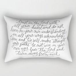 Straight Paths Rectangular Pillow