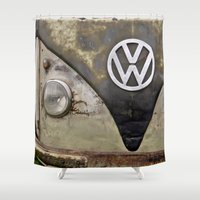 vw Shower Curtains featuring VW Indestructable by Alice Gosling