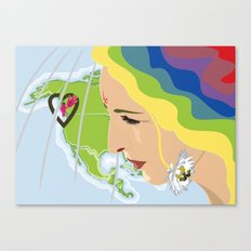 your mama loves you, no matter where you are Canvas Print