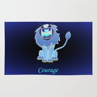 oz Area & Throw Rugs featuring oz-courage by Jovan Dortch