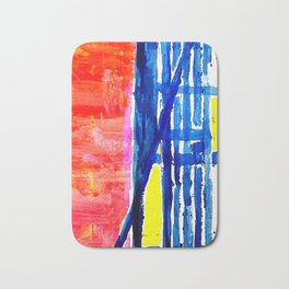 Crossed roads Bath Mat
