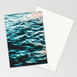 Beautiful glimming sea with some warm light leaks Stationery Cards