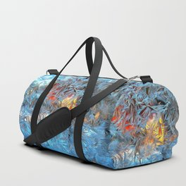 Frozen window Duffle Bag