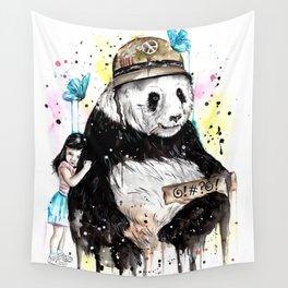 Panda Love Wall Tapestry