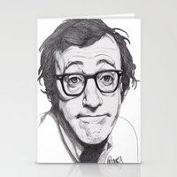 woody allen Stationery Cards featuring Woody Allen by Paul Nelson-Esch Art
