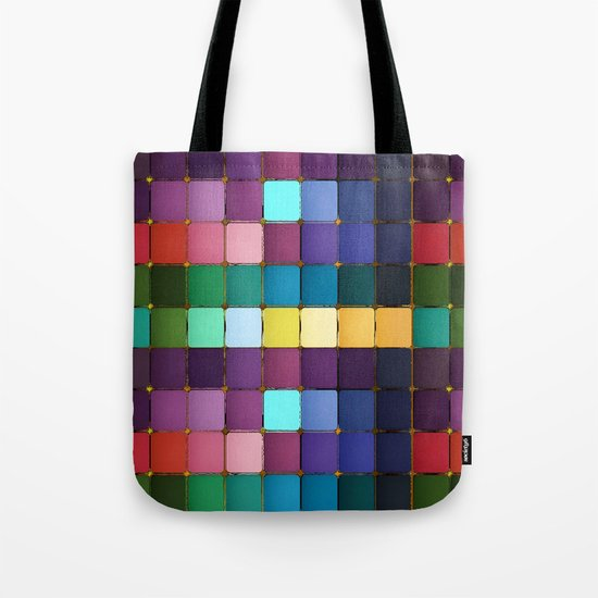 Colored Blocks Tote Bag