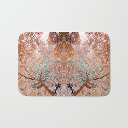 The Lungs of the Earth - Gold, Pink &Turquoise Bath Mat