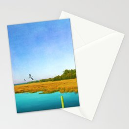 Golden Marshes St. Simons Island Stationery Cards