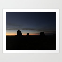 Sunrise at Monument Valley Art Print