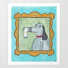 Sock-Dog Art Print