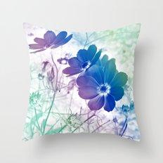 Rainbow Cosmos Throw Pillow