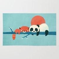 pandas Area & Throw Rugs featuring Pandas by Jay Fleck