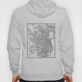 Vintage Map of Omaha Nebraska (1901) BW Hoody