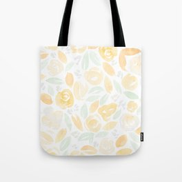 Floral Pattern #2 | Peach Mint Palette Tote Bag