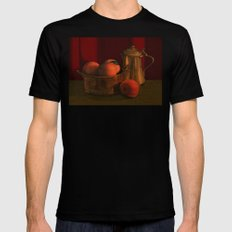 Still life with peaches Black Mens Fitted Tee MEDIUM