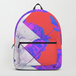Abstract Geometric Peonies Flowers Design Backpack