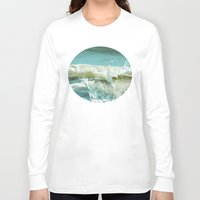 wave Long Sleeve T-shirts featuring Wave by Bella Blue Photography