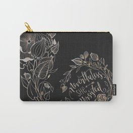 Nevertheless She Persisted Gold Carry-All Pouch