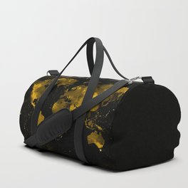 Gold Earth marble map Duffle Bag