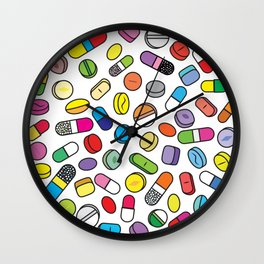 Drugs N Pills Wall Clock