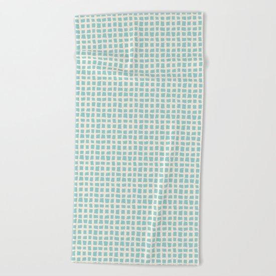 Blue Scribbles Pattern 02 Beach Towel
