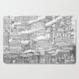 Hong Kong. Kowloon Walled City Cutting Board
