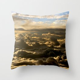 Sky over the Atlantic Ocean Throw Pillow