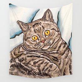 Grey Cat Wall Tapestry