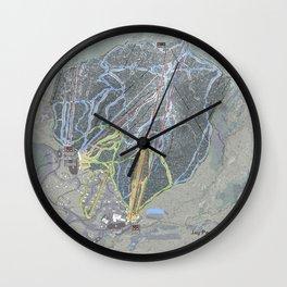 Jay Peak Resort Trail Map Wall Clock