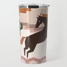 Wild Desert Horse Travel Mug