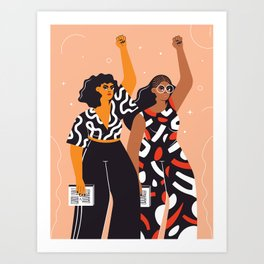 Feminism is for everybody Art Print