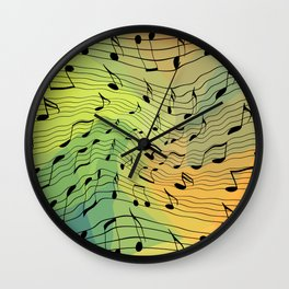 Music notes II Wall Clock