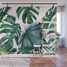 Tropical Palm Leaves Classic II Wall Mural